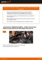 Installation von Scheibenbremsen FORD FOCUS (DAW, DBW) - Schritt für Schritt Handbuch
