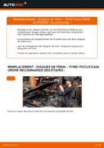 Comment changer : disques de frein avant sur Ford Focus DAW - Guide de remplacement