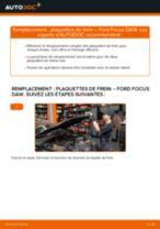 Comment changer : plaquettes de frein avant sur Ford Focus DAW - Guide de remplacement