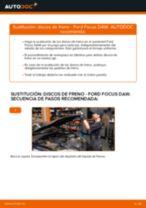 Cómo cambiar: discos de freno de la parte delantera - Ford Focus DAW | Guía de sustitución
