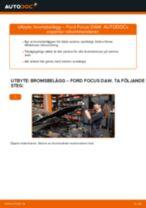 bak och fram Bromsbelägg FORD FOCUS (DAW, DBW) | PDF instruktioner för utbyte