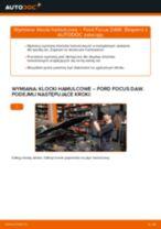 Jak wymienić klocki hamulcowe przód w Ford Focus DAW - poradnik naprawy