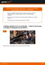 Ako vymeniť predné brzdové platničky na Ford Focus DAW – návod na výmenu