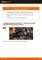 Jak vyměnit a regulovat Brzdové Destičky FORD FOCUS: průvodce pdf