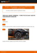Avtomehanična priporočil za zamenjavo FORD Ford Focus DAW 1.8 Turbo DI / TDDi Kolesni lezaj