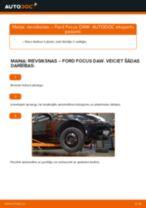 Kā nomainīt: rievsiksnas Ford Focus DAW - nomaiņas ceļvedis