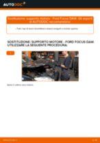 Come cambiare supporto motore a destra su Ford Focus DAW - Guida alla sostituzione