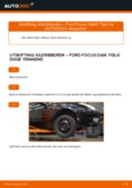 Slik bytter du kileribberem på en Ford Focus DAW – veiledning