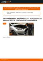 Πώς να αλλάξετε ιμάντας poly-V σε Ford Fiesta JA8 - Οδηγίες αντικατάστασης