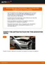 Πώς να αλλάξετε δισκόπλακες εμπρός σε Ford Fiesta JA8 - Οδηγίες αντικατάστασης