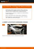 Elülső féktárcsák-csere Ford Fiesta JA8 gépkocsin – Útmutató