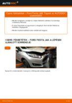 Elülső fékbetétek-csere Ford Fiesta JA8 gépkocsin – Útmutató