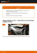 Kā nomainīt: priekšas bremžu klučus Ford Fiesta JA8 - nomaiņas ceļvedis