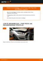 PDF guide för byta: Bromsklossar FORD Fiesta Mk6 Hatchback (JA8, JR8) bak och fram