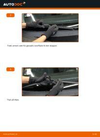 Hvordan man udfører udskiftning af: Viskerblade på 1.6 16V Ford Focus DAW