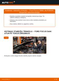 Kaip atlikti keitimą: 1.6 16V Ford Focus DAW Stabdžių Kaladėlės