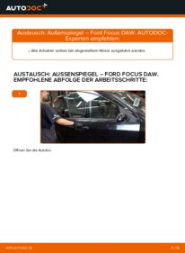 Wie der Wechsel durchführt wird: Außenspiegel 1.6 16V Ford Focus Mk1 tauschen
