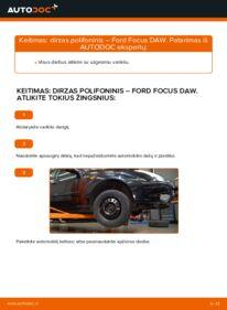 Kaip atlikti keitimą: 1.6 16V Ford Focus DAW V formos rumbuotas diržas