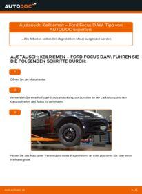Wie der Wechsel durchführt wird: Keilrippenriemen 1.6 16V Ford Focus DAW tauschen