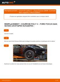 Comment effectuer un remplacement de Courroie Trapézoïdale à Nervures sur 1.6 16V Ford Focus 1