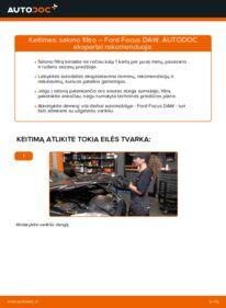 Kaip atlikti keitimą: 1.6 16V Ford Focus DAW Oro filtras, keleivio vieta