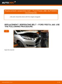How to carry out replacement: Poly V-Belt on 1.25 Ford Fiesta ja8