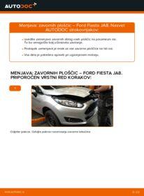 Kako izvesti menjavo: Zavorne Ploščice na 1.25 Ford Fiesta Mk6