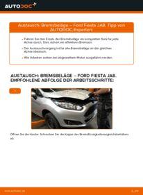Wie der Wechsel durchführt wird: Bremsbeläge Ford Fiesta ja8 1.25 1.4 TDCi 1.6 TDCi tauschen