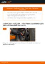 FORD FIESTA VI Querlenker wechseln vorne unten hinten ( links + rechts ) Anleitung pdf