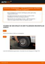 VW TRANSPORTER V Box (7HA, 7HH, 7EA, 7EH) Domlager wechseln vorne und hinten Anleitung pdf