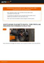 Come cambiare cuscinetto ruota della parte anteriore su Ford Fiesta JA8 - Guida alla sostituzione