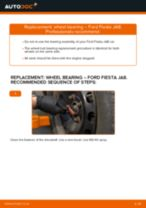 Auto mechanic's recommendations on replacing FORD Ford Fiesta V jh jd 1.4 16V Wheel Bearing