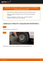 Vgraditi Blažilnik VW TRANSPORTER V Box (7HA, 7HH, 7EA, 7EH) - priročniki po korakih