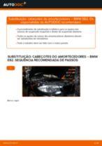 Como mudar cabeçotes do amortecedores da parte dianteira em BMW E82 - guia de substituição