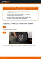 Hátsó lengéscsillapító-csere VW T5 Transporter gépkocsin – Útmutató