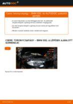 Elülső toronycsapágy-csere BMW E82 gépkocsin – Útmutató