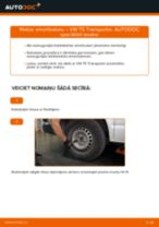 VW TRANSPORTER Amortizators nomaiņa: rokasgrāmata