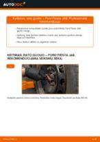 Kaip pakeisti ir sureguliuoti Ašies montavimas FORD FIESTA: pdf pamokomis