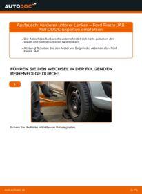 Wie der Wechsel durchführt wird: Querlenker 1.25 Ford Fiesta Mk6 tauschen