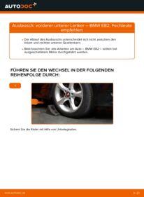 Wie der Wechsel durchführt wird: Querlenker BMW E82 120d 2.0 123d 2.0 135i 3.0 tauschen