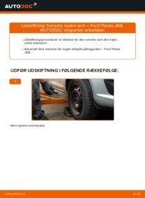 Hvordan man udfører udskiftning af: Bærearm på 1.25 Ford Fiesta ja8