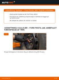 Hvordan man udfører udskiftning af: Hjulleje på 1.25 Ford Fiesta Mk6