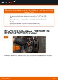 Kako izvesti menjavo: Kolesni lezaj na 1.25 Ford Fiesta ja8