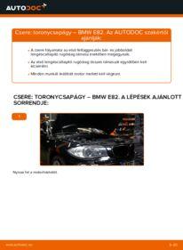 Hogyan végezze a cserét: 120d 2.0 BMW E82 Toronycsapágy
