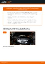 Kaip pakeisti ir sureguliuoti Rėmas, stabilizatoriaus tvirtinimas BMW 1 SERIES: pdf pamokomis