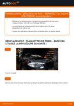 Comment changer et régler Kit de plaquettes de frein BMW 1 SERIES : tutoriel pdf