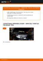 Udskiftning af Bremseklods bag og foran BMW gør det selv - online manualer pdf