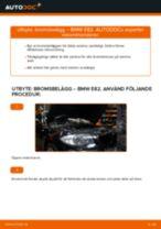 Byta bromsbelägg fram på BMW E82 – utbytesguide