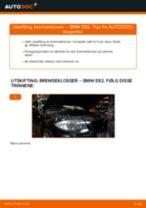 Mekanikerens anbefalinger om bytte av BMW BMW E82 123d 2.0 Alarmkontakt Bremsebeleggslitasje