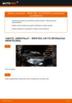 Kuinka vaihtaa jarrupalat eteen BMW E82-autoon – vaihto-ohje